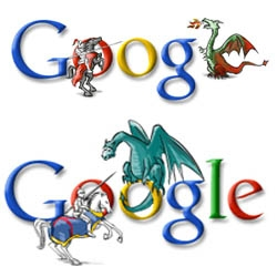 didnt even know it was st george day (or what it is?), but these google bits are so cute!