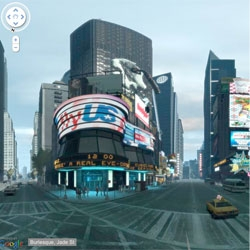 Google Street View of Grand Theft Auto IV's Liberty City by GTA fans using 80,000 screen shots.