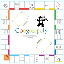 Googolopoly: Nice game board with a lot of web startups!