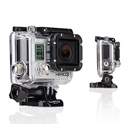 GoPro HD WiFi enabled Hero 3 Black Edition ~ 30% smaller, 25% lighter & 2X more powerful - new resolutions and frame-rates include 4Kp 15, 2.7kp 30, 1080p 60, 1440p 48, 960p 100, 720p 120 and 12MP burst photo capture at 30 fps.