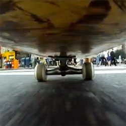 New York City as seen from a skateboard. Created by Josh Maready using a GoPro camera.
