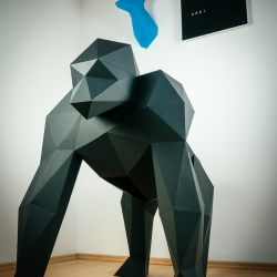 Life sized papercraft gorilla from Paper Trophy