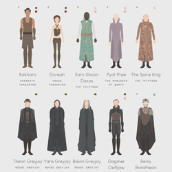 Where Have All The Wildlings Gone by Nigel Evan Dennis is a graphic tribute to HBO's Game of Thrones that maps out the characters, timelines, and facts.