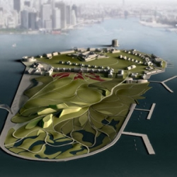 Diller Scofidio + Renfro's plans to renovate New York's Governor's Island into an incredible eco park interlaced with waterways, aquariums, and paths for complimentary bikes.