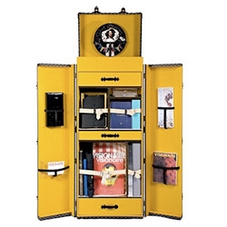 Visionaire Magazine's 50th issue: a Goyard trunk loaded to the gills with those first 50 Visionaire issues OR a Goyard trunk loaded to the gills with 10 sets of those 50 issues. 50k$US or 150k$US