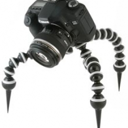 Dominatrix style spike feet for the monster Joby Gorillapod SLR-ZOOM