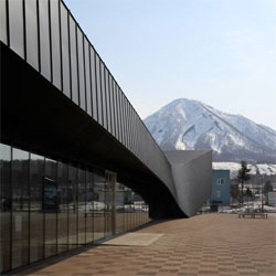 GR230, a service station along Route 230 in northern Japan, by Code architects.