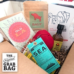 The Original Grab Bag - you just don't know what you're going to get, so peek at what they curated for NOTCOT! So many great products, experiences, and deliciousness!