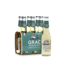 Package design from brainCELLS for Graci, a premium cider range from Harvey River Bridge.