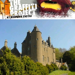 the graffiti project: Beginning May 10th, for 30 days, OS GEMEOS, NINA and NUNCA will be painting  a thirteenth century castle in the countryside of North Ayrshire, Scotland.