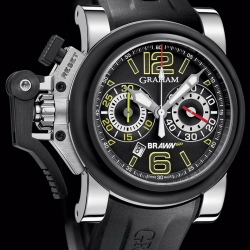 Graham-London, the originator of the chronograph watch, is partnering with record-breaking Formula 1 team Brawn GP, to release 250 limited edition timepieces. The Chronofighter and Silverstone feature unique motorsports inspired styling.