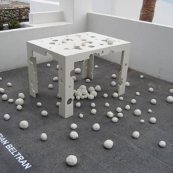 natural urbano, mexican designer, shows us granizo (hail) amazing table/sculpture