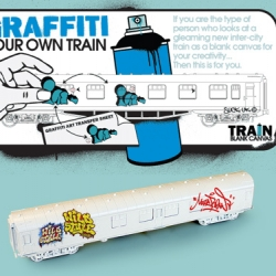 Another great idea form Big Chief - mini trains to do grafitti on!