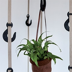 "Tapegear Grapple hanging system - ""Inspired by old, industrial crane hooks, Grapple is a unique hanging system for coats, hats, bags and anything else deemed fit for them."""