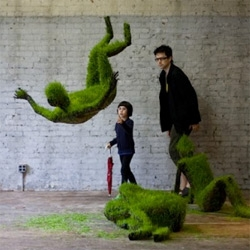 Mathilde Roussel-Giraudy makes sculptures out of grass.
