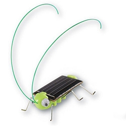 "On fun solar toys ~ how cute is this RobotiKits Frightened Grasshopper? ""In sunlight eyes jiggle, legs wiggle, and antennas sway to-and-fro as the frightened grasshopper dances."""