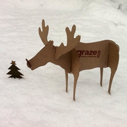 Graze customers in the UK found this amazing cardboard cut-out reindeer ready to build in their delivery this week.