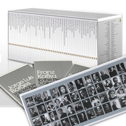 2011 is the 50th anniversary of Penguin Modern Classics, so they've launched a cute super box set of 50 Mini Modern Classics