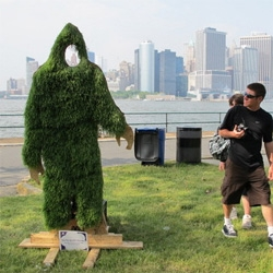 Awesome grassy Yeti - Fresh Stuff From Misstika at New York's Figment Festival