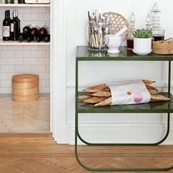 Beautiful green Asplund Tati Console Table!