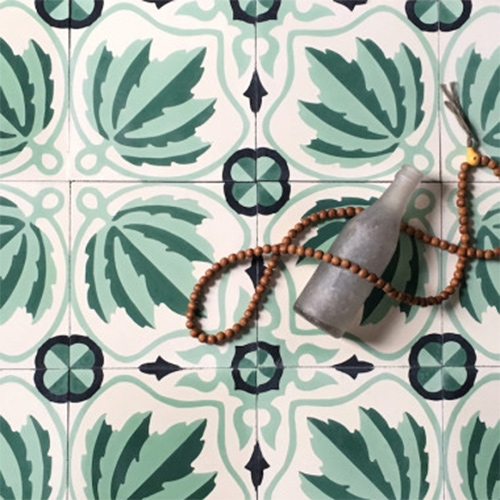 "Grow House Grow Ortiga Cement Tiles. Colors can be customized! ""The Ortiga tile–meaning ""nettle"" in Spanish–is part of our classic tile line made in collaboration with our tile maker in Mexico."""