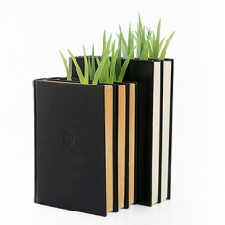 Grass-shaped post-its that serve as page markers. Designed by Yuruliku.