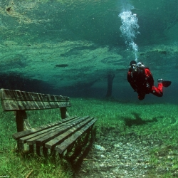 This park in Austria turns into an underwater park every Summer, and back to dry land in Winter! An amazing natural phenomena indeed.
