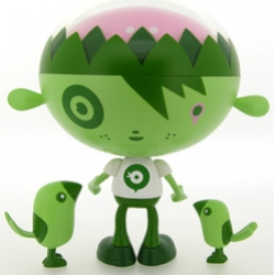 Rolito Boy Love Nature Green ~ if you're gonna go green... you need a mascot like this. Love the birds too.