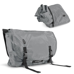 Timbuk2's Hidden Messenger defies logic in just about every way.  It's a messenger bag that folds into a palm sized zipper case.