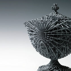 Michael Eden's 'Grey Bloom', part of the14th annual SOFA (Sculpture, Objects & Functional Art) Fair, which runs from April 14 through April 17 at the Park Avenue Armory.