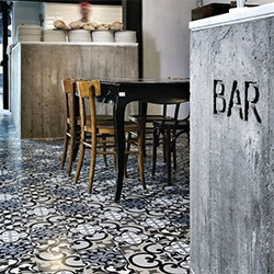 """beautiful grey"" inspiration from The Style Files with some gorgeous tiles and concrete examples..."