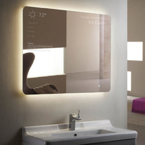 Griffin is smart home IoT ready with a Connected Mirror, Toaster, and Coffee Maker. Most intriguing is the mirror, which displays information like time, weather, etc. and can be customized with the companion app.