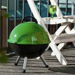 Adorable colorful, spherical barbecues from Sagaform.