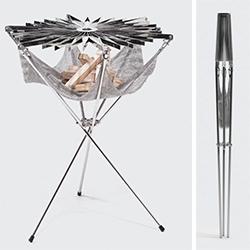 formAxiom Grillo! Tripod style portable grill designed by Mirko Bocek, Martin Oberhauser and Alain Brideson.