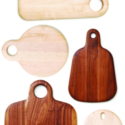 Beautiful cutting and charcuterie boards are the latest project from Canadian designer Geoffrey Lilge.  Handmade from solid FSC-certified maple and walnut, in eight functional shapes.