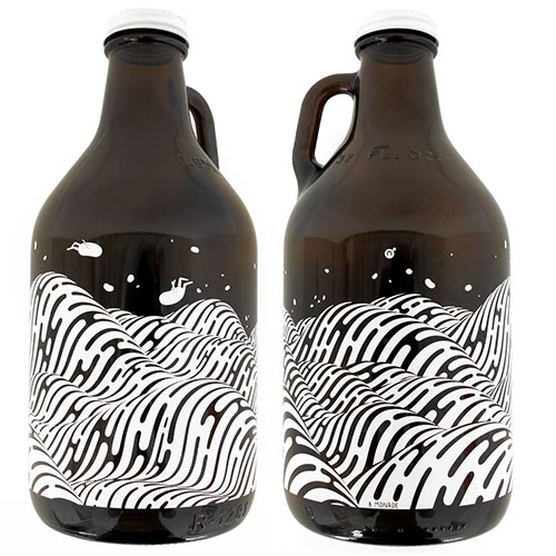 Nucleus x Brendan Monroe Collectible Growler! Love the blobs... especially animated as it spins around.