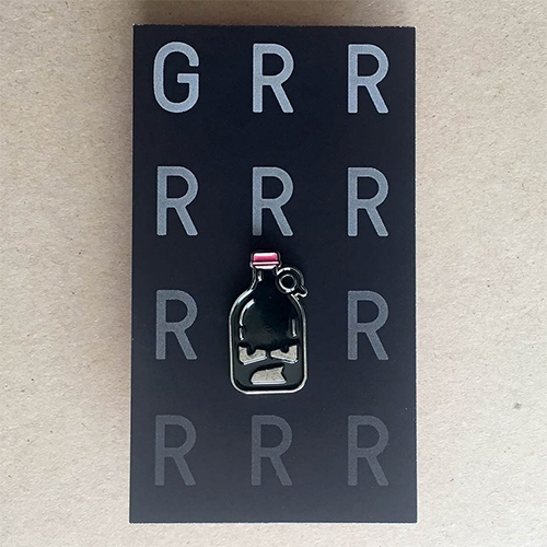 Chris Pecora GRRRRROWLER Enamel Pin! Also available in sticker form.