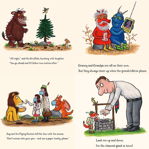 'Gruffalo stayed in the cave': Axel Scheffler and Julia Donaldson's adorable coronavirus cartoons help teach kids (and adults) to stay safe!