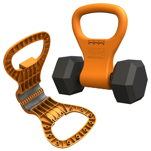 Kettle Gryp - a handle that turns dumbbells into kettle bells