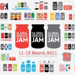 Global Service Jam - In celebration of their growing global following - the service design community has produced a clever range of logos to brand each individual 'jam'.