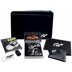 "Gran Turismo 5 Signature Edition and Collector's Editions ~ including a ""Metal sculpted box finished in SLS AMG Obsidian Black."" ~ as well as lots of other ridiculous goodies..."
