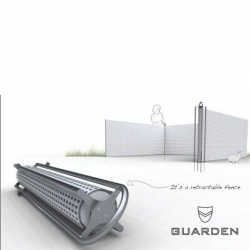 Louis Filosa's 'Guarden' is a safe, retractable fence to protect your vegetable garden.