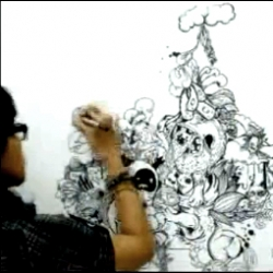 Stop Motion drawing by Ay Natanagara and Zindy Amalia.