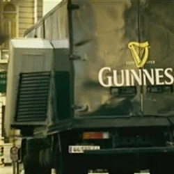 A truck of Guinness became a fridge magnet.