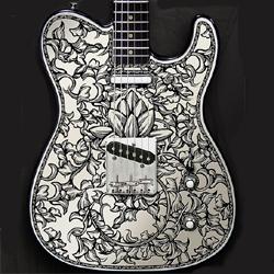 """Lotus"" guitar, by Moolon."