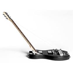 Fredrik Johansson's centerfolding guitar.  From the DeVillain Guitar Company.
