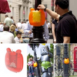 The Gummy Bin is the world's first collection and recycling system for chewing gum.