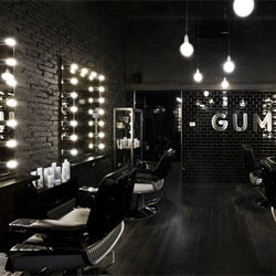 Gum salon in Milan's Ticinese area. Great interior!