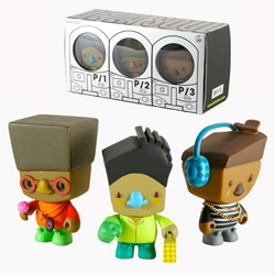 To celebrate their album 3 Feet High and Rising, De La Soul teamed with Myong Kurily and Kidrobot to create this limited edition set of 3-inch figures.