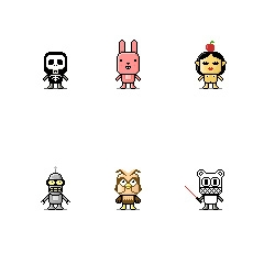 They are cute and free. Here is some cool little avatars you can use for your Twitter or your Gravatar...